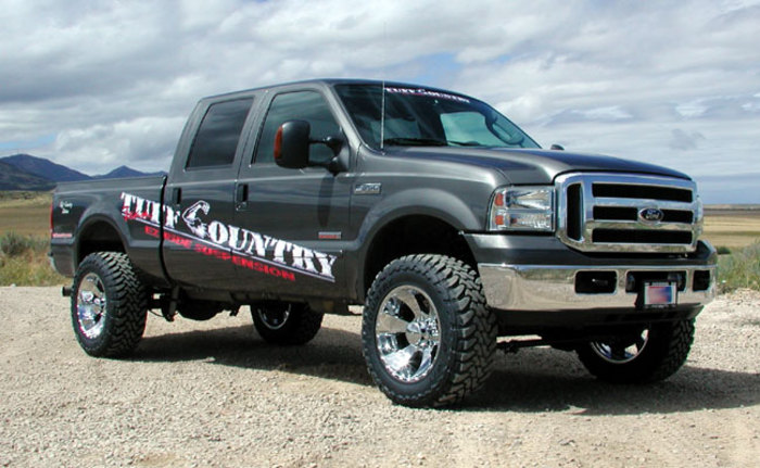 Ford f350 leveling kit 2005 2018 4x4 tuff country 22970 suspensionconnection com