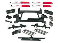 "1992-1998 Chevy Suburban 2500 (8lug) 4x4 With Cast Lower Control Arms - 4"" Suspension Lift Kit"