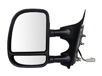 1999-2004 Ford F350 - Extendable Towing Mirror / Driver side (Power, Dual Mirror, Black, Foldaway)