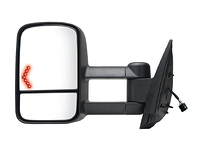 2007-2011 GMC Sierra 1500 - Extendable Towing Mirror / Driver side (Power Heated, w/Turn Signal, Dual Mirror, Black, Foldaway)