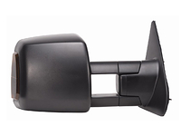 2008-2014 Toyota Sequoia - Extendable Towing Mirror / Passenger side (Power Heated, w/Light, Dual Mirror, Black, Foldaway)