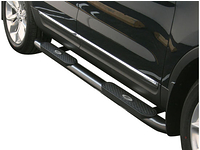 "2001-2014 Chevy Silverado 2500HD Crew Cab 2wd & 4wd - Black Powder Coated 4"" Oval Nerf Bars"