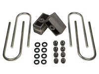 "1973-1991 Chevy Suburban 3/4 ton 4wd - 3"" Rear Block Kit (ubolts & lift blocks)"