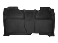 2015-2018 Chevy Silverado 3500 / 3500HD, Crew Cab - Husky Liners Rear X-act Contour Floor Mats - Black (Full Coverage)