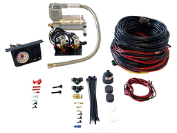 Air Lift Load Controller I Heavy Duty Air Compressor Kit Dual Gauge 25651