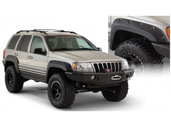 Bushwacker Jeep Grand Cherokee Cut Out Style Fender Flares Front 1999-2004 10071-07