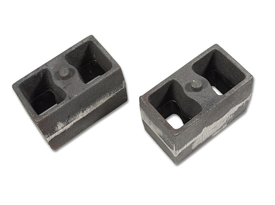 "4"" cast iron blocks (3"" wide, non-tapered) pair"