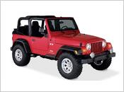 1997-2006 Jeep Wrangler - Bushwacker Pocket Style Fender Flares (Front and Rear Set / factory hole mount design / 6 inch tire coverage)