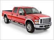 2008-2010 Ford F350 - Bushwacker Street Style Fender Flares (Front and Rear Set)