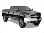 "2007-2013 Chevy Silverado 1500 (with 5' 9"" Bed) - Bushwacker Pocket Style Fender Flares (Front and Rear Set)"