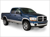 2006-2008 Dodge Ram 1500 (with 8' Bed) - Bushwacker Street Style Fender Flares (Front and Rear Set)